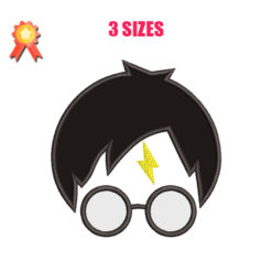 Harry Potter Applique Machine Embroidery Design