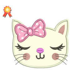 Kitty face Machine Embroidery Design