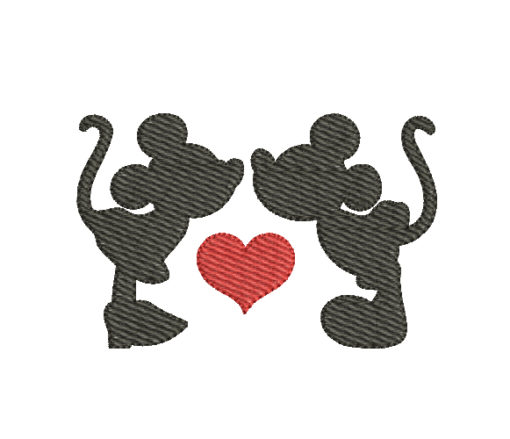 Mickey Mouse Love Machine Embroidery Design