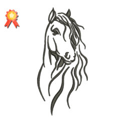 Outline Horse Machine Embroidery Design