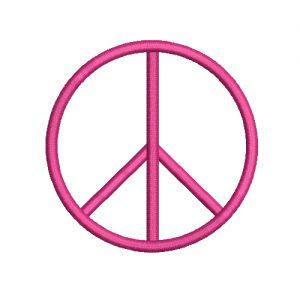 Peace Symbols Machine Embroidery Design