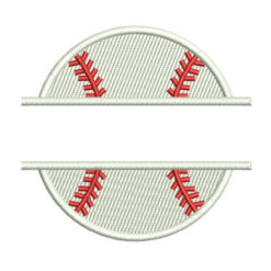 Split Baseball Machine Embroidery Design