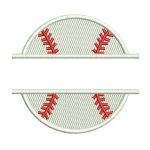 Split Baseball Machine Embroidery Design