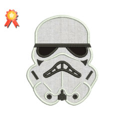 Stormtrooper Applique Machine Embroidery Design