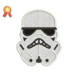 Stormtrooper Applique Machine Embroidery Design