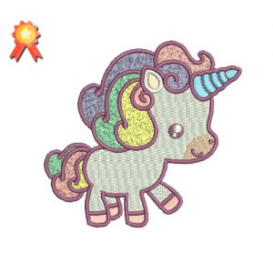 Walking Baby Unicorn Machine Embroidery Design
