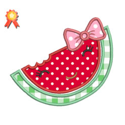 Watermelon Face Machine Embroidery Design