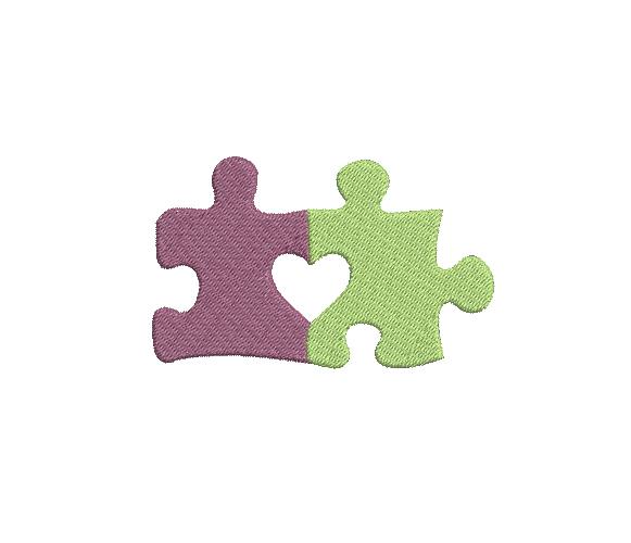Autism Awareness Machine Embroidery Design