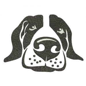 Basset Hound Machine Embroidery Design