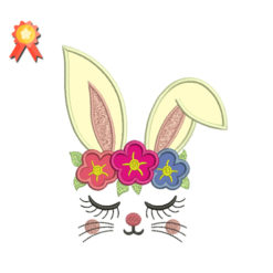 Bunny Ears Machine Embroidery Design