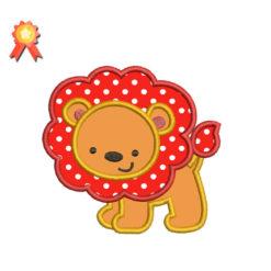 Cute Lion Machine Embroidery Design