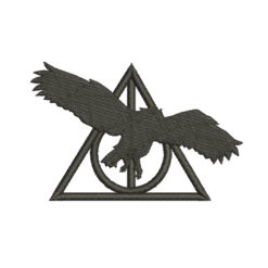 Deathly Hallows Owl Silhouette Machine Embroidery Design