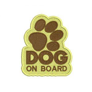 Dog On Board Machine Embroidery Design