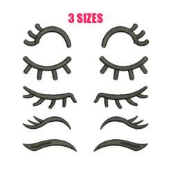 Eyelashes Machine Embroidery Design