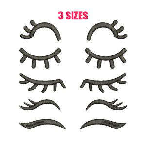 Eyelashes Machine Embroidery Design
