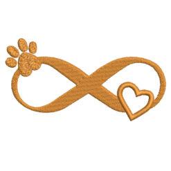 Infiniti Dog Love Machine Embroidery Design
