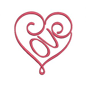 Love Heart Machine Embroidery Design