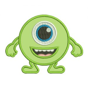 MONSTER Applique Machine Embroidery Design