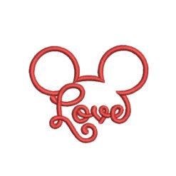 Mickey Love Machine Embroidery Design