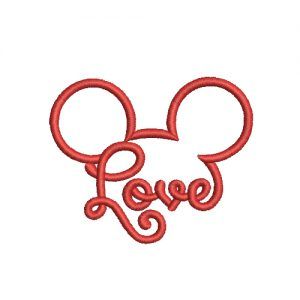 Mickey Love Machine Embroidery Design