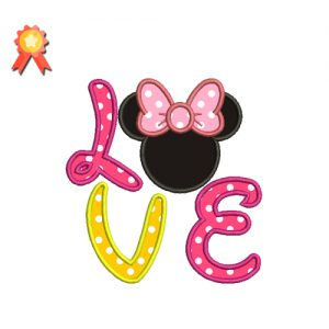 Minnie Love Machine Embroidery Design