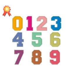 Numbers Applique