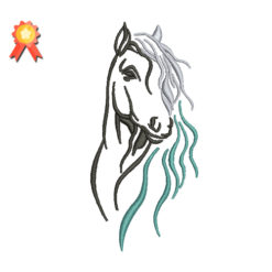 Outline Horse 2 Machine Embroidery Design