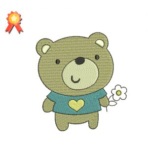 Teddy Bear Machine Embroidery Design