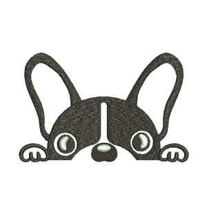 French bulldog Silhouette Machine Embroidery Design