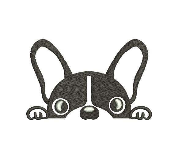 French bulldog Silhouette Machine Embroidery Design