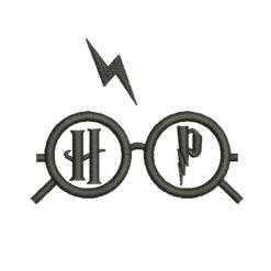 Harry Potter Glasses Machine Embroidery Design