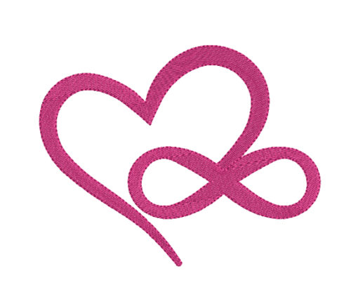 Infinity Love Sign Machine Embroidery Design
