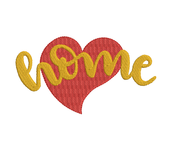 Love home Machine Embroidery Design