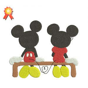 Mickey Minnie Machine Embroidery Design