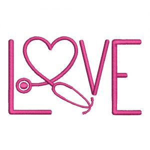 Nurse Love Machine Embroidery Design