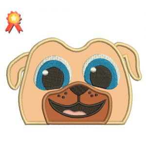 Rolly Puppy Dog Pals Head Machine Embroidery Design