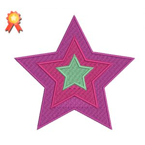 Star Machine Embroidery Design