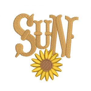 Sun time Machine Embroidery Design