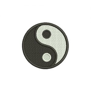 Yin Yang Symbol Machine Embroidery Design