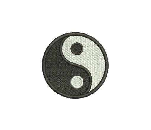 Yin Yang Symbol Machine Embroidery Design