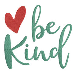Be Kind Machine Embroidery Design