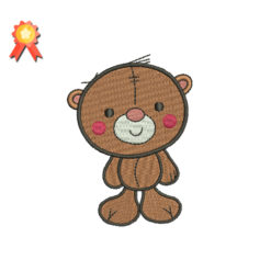 Cute Teddy Bear Machine Embroidery Design
