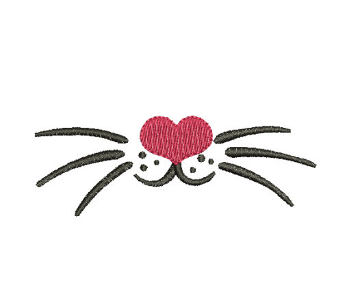 Cute cat Mouth Machine Embroidery Design