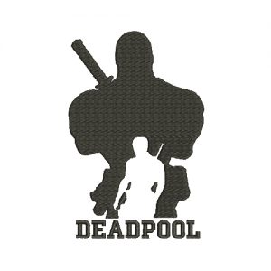 Deadpool Machine Embroidery Design