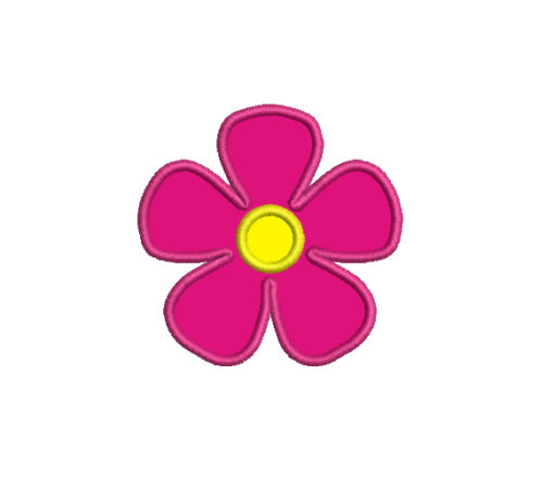 Flower Applique Machine Embroidery Design