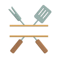 Grilling Tools Machine Embroidery Design