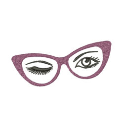 Retro Glasses Machine Embroidery Design