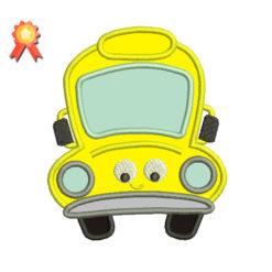 School Bus Machine Embroidery Design