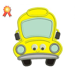 School Bus Machine Embroidery Design