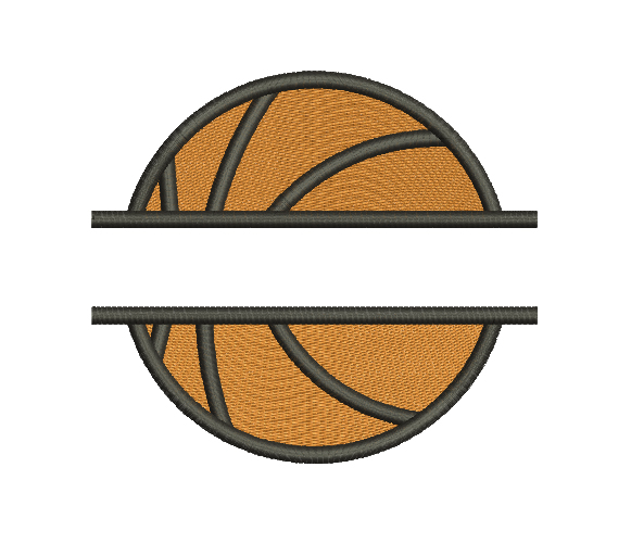 Split Basketball Machine Embroidery Design